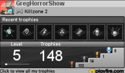 PS3 Trophy Card